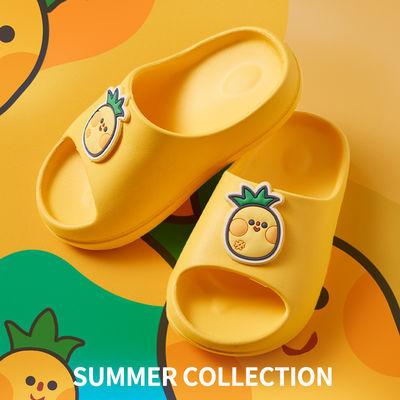 柠檬宝宝儿童室内居家果系夏凉拖中小童宝宝EVA软底防滑一字拖鞋