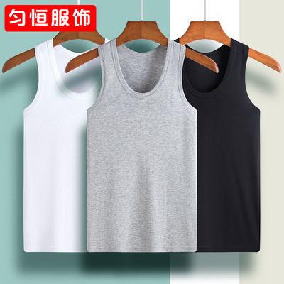 16140/男士背心100%纯棉透气运动夏季中青年修身纯棉背心男圆领打底汗衫