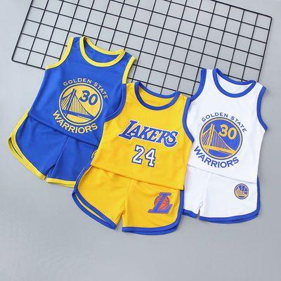 儿童背心短裤运动套装男童女童篮球服宝宝球衣幼儿园表演球服套装