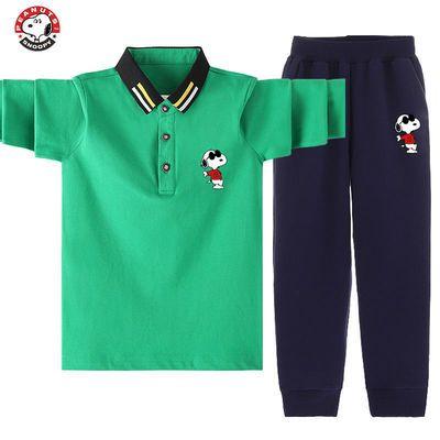 77666/史努比SNOOPY男童长袖T恤套装学生2021春秋款韩版宽松中大童长裤