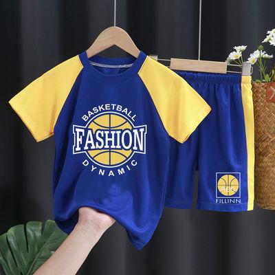 儿童背心篮球服男童运动套装薄中大童速干短袖短裤两件套夏季潮