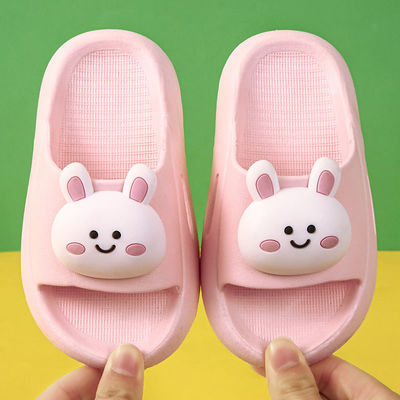 夏季儿童拖鞋女童可爱卡通居家防滑软底小孩洗澡宝宝浴室凉拖男童