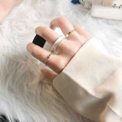 17071/戒指女ins不掉色高级感小众设计时尚素圈开口可调节个性食指戒
