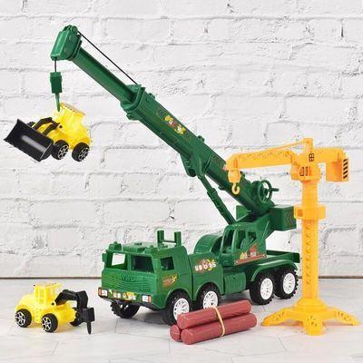 57854/惯性吊车大号工程车吊机起重机消防车儿童玩具汽车模型男孩3-6岁