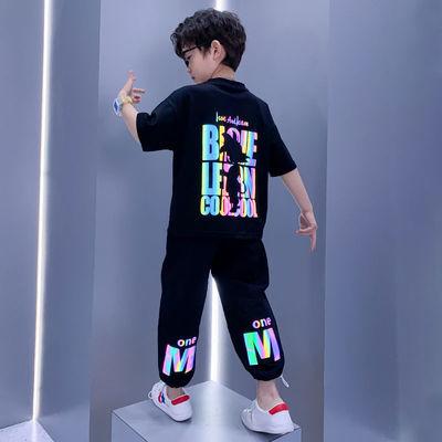 男童夏装套装2021年新款韩版儿童中大童时髦网红夏季男孩运动短袖