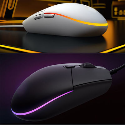 43409/G102二代有线游戏鼠标电竞RGB灯家用办公笔记本台式LOL吃鸡宏定义