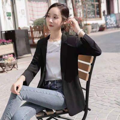 2021新韩版小西装外套修身七分袖百搭气质职业大码防晒中长款风衣【5月5日发完】