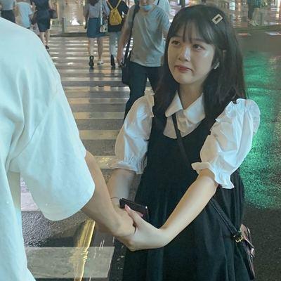 37630/2021夏季新款学院风套装女学生韩版宽松娃娃领衬衫+连衣裙两件套