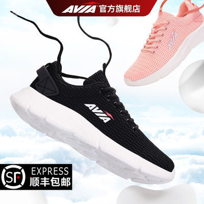 AVIA运动鞋女情侣鞋2021夏季新款透气网面正品轻便跑步鞋男休闲鞋