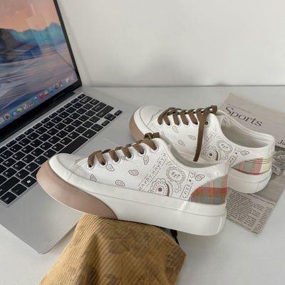 16640/大头帆布鞋女日系软妹2021年夏季新款薄款小众设计腰果花学生女鞋