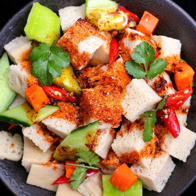 河南烤麸干烤麸丁 胡辣汤 凉皮伴侣 凉菜专用 四喜商用面筋