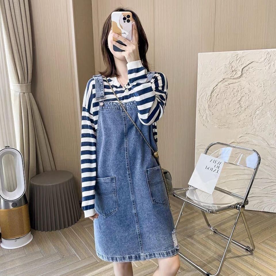 54278-牛仔背带裙女夏季2021新款春秋学生韩版宽松可爱日系小个子短裙子-详情图