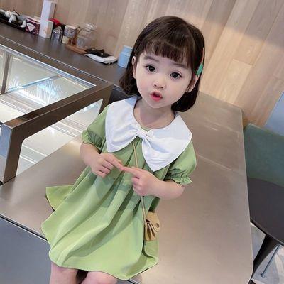 女童连衣裙夏季2021新款网红洋气儿童公主雪纺裙女宝宝夏装裙子潮