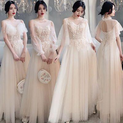 22150/伴娘服2021新款结婚伴娘礼服小个子长款宴会气质女姐妹团平时可穿