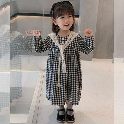 女童连衣裙2021年新款洋气春秋童装儿童女宝宝公主裙春装长袖裙子