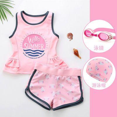 51327/2021新款夏季儿童泳衣女童小中大童宝宝分体公主可爱洋气游泳套装