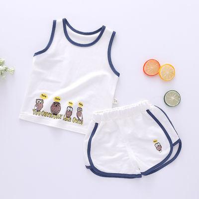 儿童背心套装夏装小童薄款衣服男童女童短裤两件套1-3-5岁
