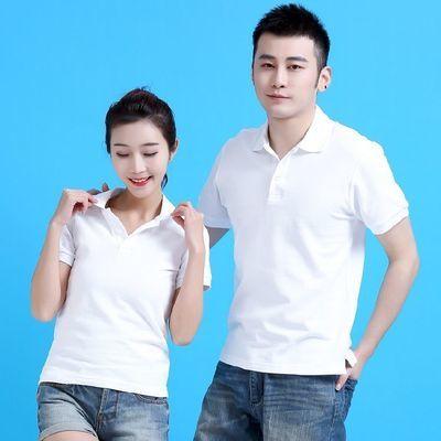 POLO衫带领夏季短袖T恤男女纯棉宽休闲上衣工作衫新款