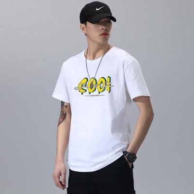 【100%棉】短袖T恤男2021新款纯棉衣服男潮流T恤衫夏季男装上衣