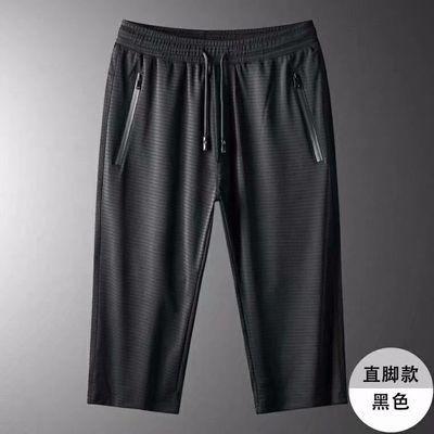 2021冰絲短袖套裝男士薄款速干運動t恤夏季休閑男裝 休閑T恤套裝