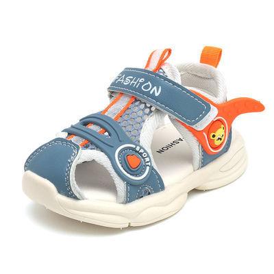 36913/2021夏季新款宝宝学步鞋凉鞋男童1-3岁2软底防滑镂空女童机能鞋潮