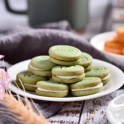 金语马卡龙夹心饼干批发整箱各种各样儿童网红食品小包装礼物饼干