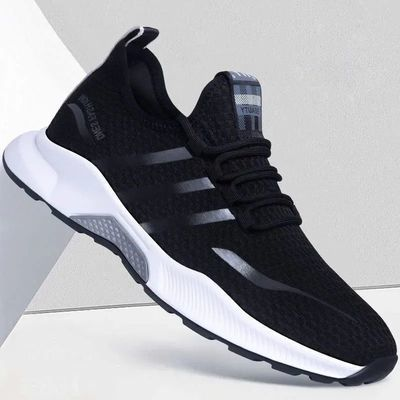 2021夏季新款轻便男鞋运动鞋单网布韩版潮流透气休闲鞋低帮鞋子男