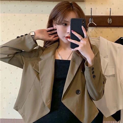 22386/西装外套女2021春季新款韩版时尚百搭短款小个子上衣ins外套女潮