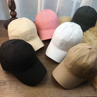 38923/高品质单色加大尺寸帽围弯沿棒球帽子男女鸭舌帽大头围春夏遮阳帽