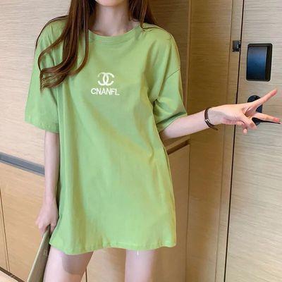 哺乳衣外出辣妈时尚纯棉t恤产后韩版中长款哺乳上衣宽松喂奶衣服