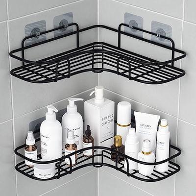 57555/免打孔浴室卫生间洗漱台置物架厕所壁挂三角架洗手间厨房收纳架子