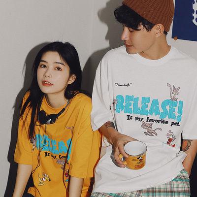 棉质短袖T恤女2021年新款夏季韩版学生ins潮百搭洋气宽松时尚上衣
