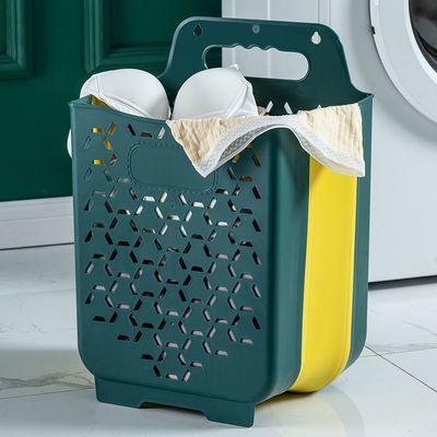 37670/折叠脏衣篮塑料壁挂式衣服收纳篓卫生间换洗衣物收纳筐浴室洗衣篮