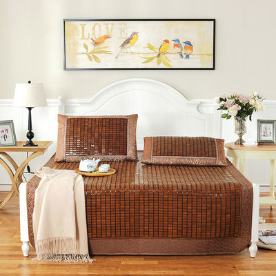 36922/夏季麻将凉席竹席学生席折叠双人床1.5米1.8米宿舍单人0.8米1.2米