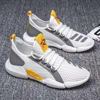 夏季透气舒适男鞋百搭潮流韩版运动鞋镂空网眼小白鞋学生软底防滑