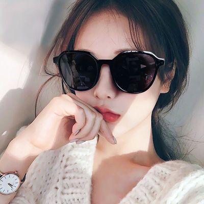 墨镜女ins韩版潮流防紫外线太阳眼镜大脸显瘦网红款街拍圆脸新款