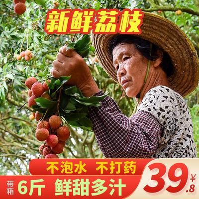 6斤整箱新鲜甜荔枝现摘现发妃子笑海南应季水果白糖罂黑叶非桂味