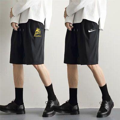 帅气短裤男夏季宽松运动五分裤透气薄款大裤衩空调裤男士休闲裤子