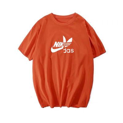 夏季短袖T恤男韩版潮流宽松打底衫港风情侣印花百搭体恤上衣学生