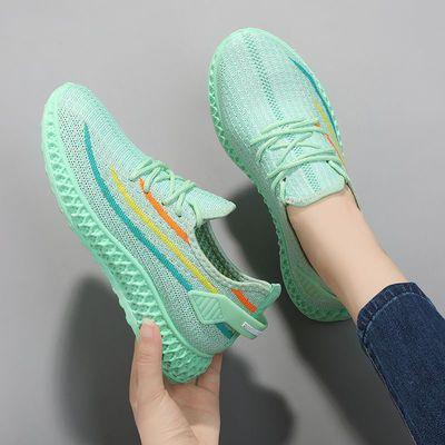 新款夏季鞋子女学生百搭运动休闲鞋网面透气跑步鞋百搭时尚旅游鞋