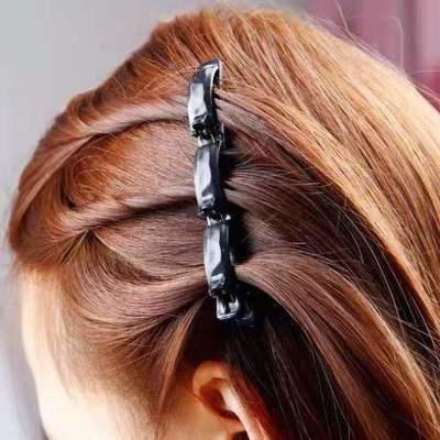 23865/三股夹造型发夹发卡饰品头饰美发编盘发器双层刘海夹减龄懒人神器