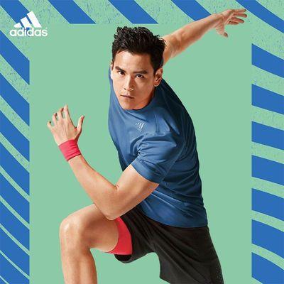 34641/阿迪达斯短袖男夏季运动跑步速干衣T恤宽松冰风官网旗舰训练健身