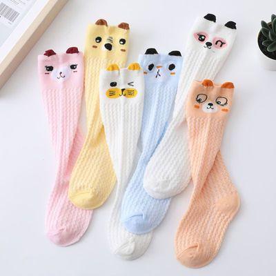 婴幼儿袜子0-3岁春夏薄款纯棉过膝不勒腿卡通新生儿宝宝长筒袜子