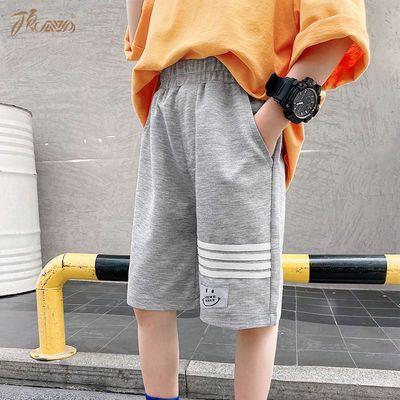 顶瓜瓜男童短裤2021新款夏季儿童薄款中裤中大童男孩休闲五分裤子