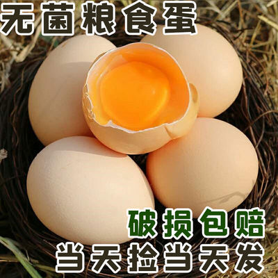 【粮食单】20/30/40枚土鸡蛋农村散养五谷杂粮蛋新鲜整箱盒装批发