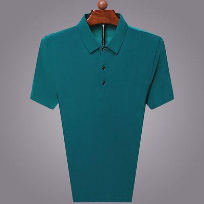 富贵鸟正品夏季纯色男士T恤新款中年男士翻领休闲上衣纯色POLO衫