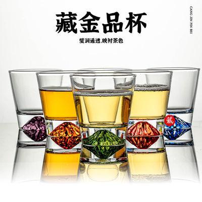 网红杯日式雪山杯威士忌酒杯冰山鸡尾酒杯无铅水晶玻璃杯富士山杯