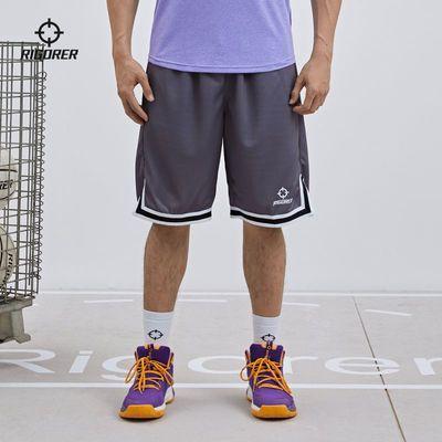 73904/准者2021新款CUBA针织五分裤运动健身训练跑步休闲透气宽松篮球裤