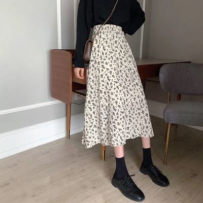 23571/碎花超仙半身裙女夏裙2021新款中长款a字裙高腰显瘦遮胯洋气百搭