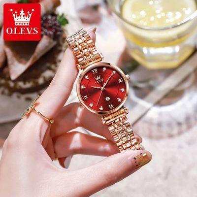 28593/欧利时手表女ins风女表时尚潮流学生表超薄防水简约气质女士手表